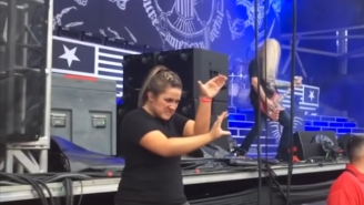 This Supercut Of Sign Language Interpreters Killing It At Heavy Metal Concerts Proves They Work Just As Hard As The Band