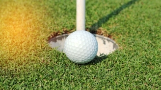 Golf Putt Hangs On The Lip For Eight Lifetimes Before Dropping In