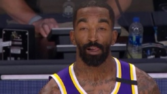 Confused JR Smith Becomes A Meme Again During Game 3 Of Lakers-Blazers Playoff Series
