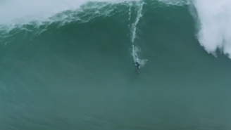 Kai Lenny Won This Year's 'XXL Biggest Wave Award' For This 70-Foot Beast Of A Wave In Portugal