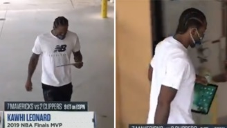 Kawhi Leonard Staring At The Home Screen On His Ipad To Avoid Talking To Anyone Becomes An Instant Meme