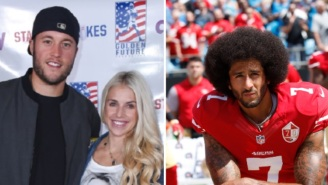 Matthew Stafford's Wife Kelly Issues Apology To Colin Kaepernick For 'Not Listening' And Criticizing Him Over Anthem Kneeling