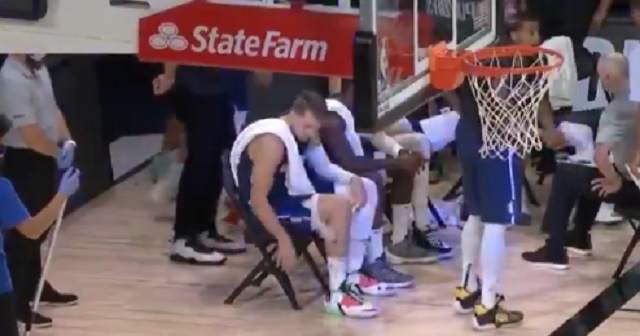 Video Shows Luka Doncic Doing Bottle Flips On The Bench In Overtime Of Crucial Game 4 Vs Clippers Minutes Before Hitting Game Winner Brobible