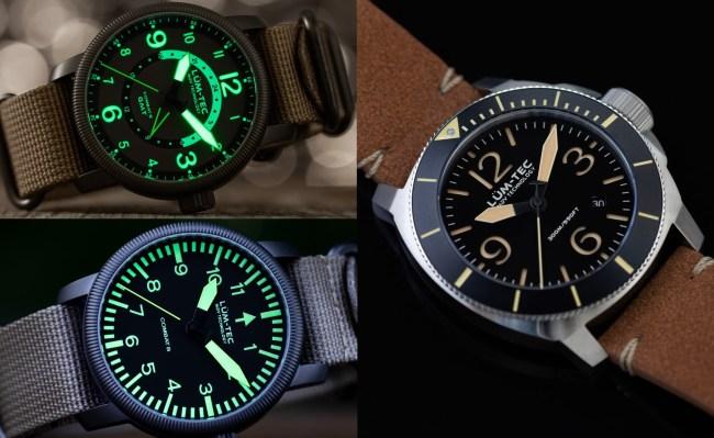 Lum-Tec Field Watches