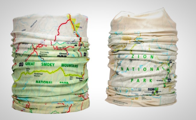 National Park Buffs Map Neck Gaiters