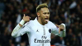 No Joke, Neymar Could Be Suspended For Champions League Final After He Swapped Jerseys With Opponent