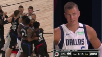 LeBron James, Dirk Nowitzki, And NBA Fans Blast Referees For Ejecting Kristaps Porzingis During Clippers-Mavs Playoff Game