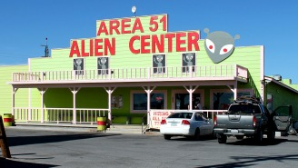 50 Foot Tall 'Alien Robot' That Could Be 'Used In Combat' Spotted In Area 51 Satellite Photo