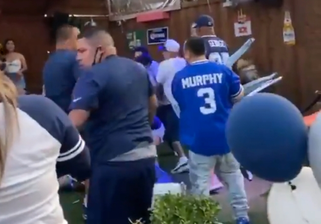 Cowboys Fans Bar Fight