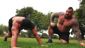 Strongman Eddie Hall Attempts The Navy SEALs Fitness Test And Didn't Have An Easy Time