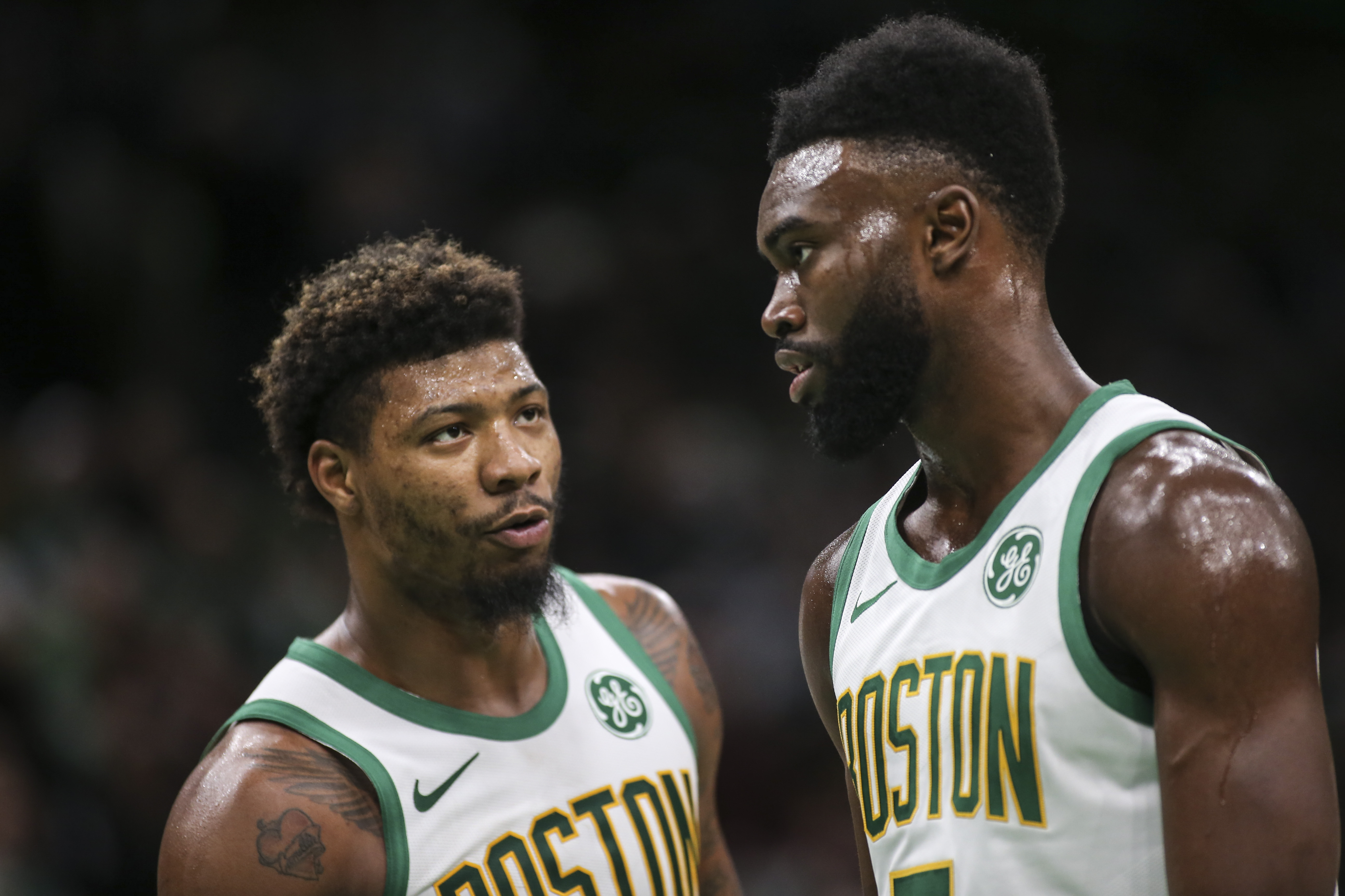 Celtics Teammates Marcus Smart And Jaylen Brown Reportedly Got Into Heated Confrontation And Had To Be Separated After Game 2 Loss To Miami Heat