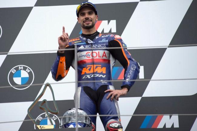 MotoGP racer Miguel Oliveira of Portugal