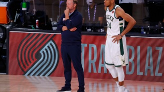 Giannis Antetokounmpo Gets Crushed After Getting Annoyed When Asked Why He Didn't Request To Guard Jimmy Butler Late In Game
