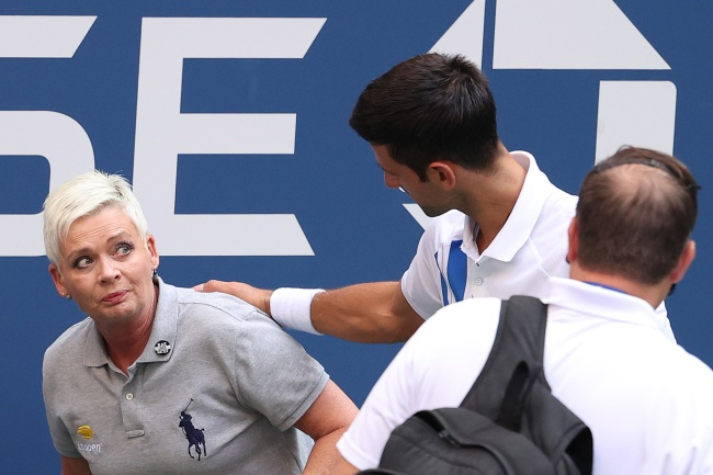 Novak Djokovic DQed From US Open After Hitting Line Judge In The Throat With Ball While Throwing A Fit During Match