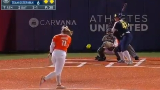 Former Gator Jordan Roberts Crushes A Ball To The Moon During Athletes Unlimited Game