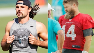 Fitzpatrick And Minshew Trash-Talking Before Game By Taking Cheap Shots At Each Other's Facial Hair