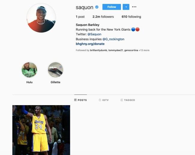 Saquon Instagram