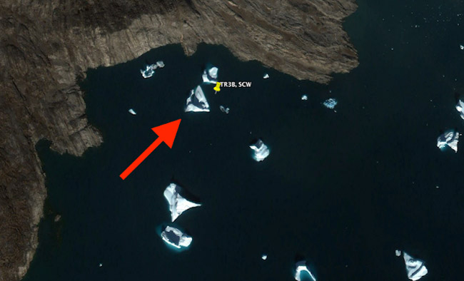 UFO Expert Discovers Alien Craft In Greenland Image Google Earth