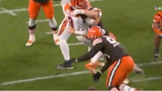 The Internet Blasts The Bengals Offensive Line After Browns Were Able To Continually Lay Big Hits On Joe Burrow