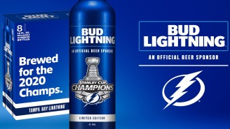 Bud Light Debuts A Glorious 'Bud Lightning' Beer To Celebrate Tampa Bay's Stanley Cup Win