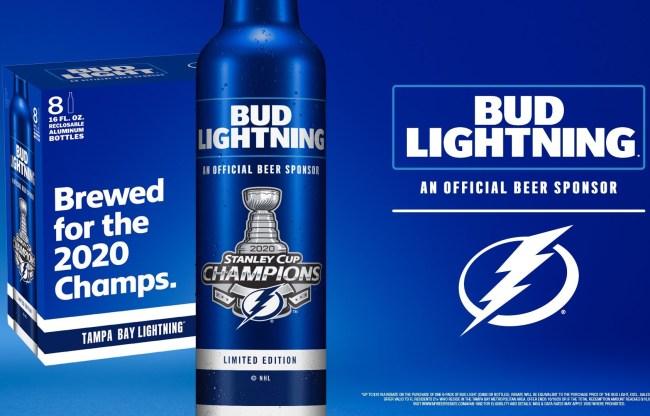 Bud Lightning beer Tampa Bay Lightning