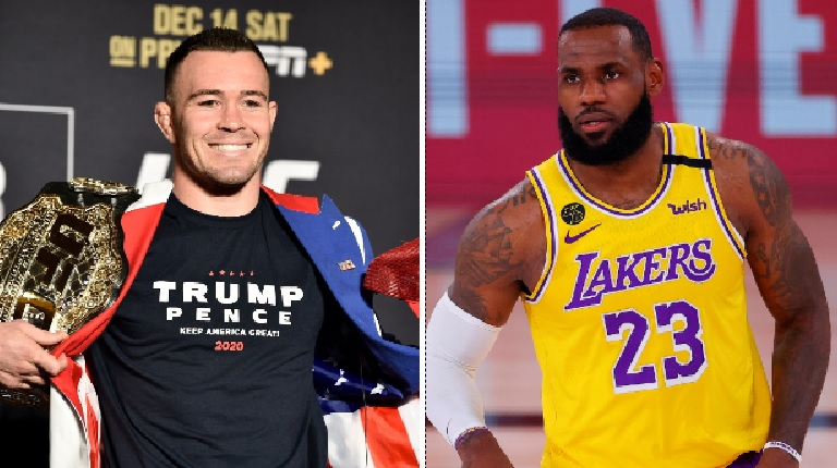 UFC star says LeBron wouldn't last in fight, brings up mom's rumored affair