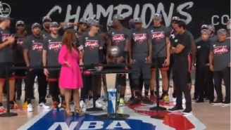 Things Get Awkward When ESPN's Rachel Nichols Tried To Ask Heat HC Erik Spoelstra About Facing LeBron James In The Finals While Team Was Still Celebrating ECF Win