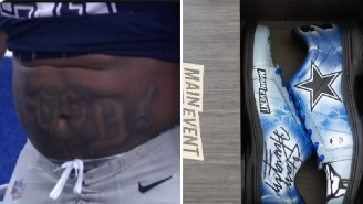 After Getting A 'Feed Me' Tattoo, Ezekiel Elliott Now Has Custom 'Stay Hungry' Bowling Shoes
