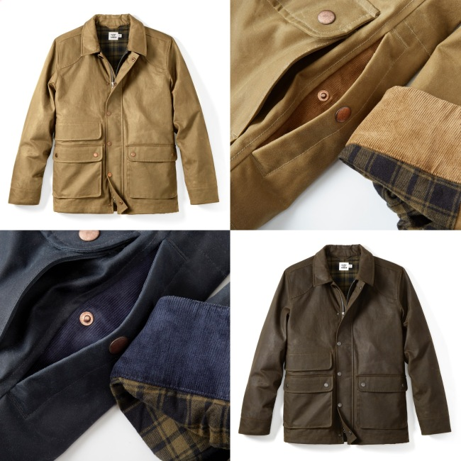 Flint and Tinder Flannel Lined Waxed Hudson Jacket