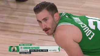The Internet Is Dunking On Gordon Hayward's Hipster Haircut + Mustache In His First Game Back