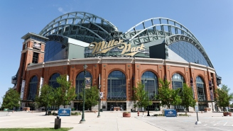 Brewers Release Security Footage Of A Guy Sneaking Into Their Stadium And Causing $40K In Damage Using A Tractor