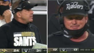 Sean Payton And Jon Gruden Both Seen Not Wearing Their Masks On The Same Night The NFL Fined Several Coaches $100K For Mask Violations