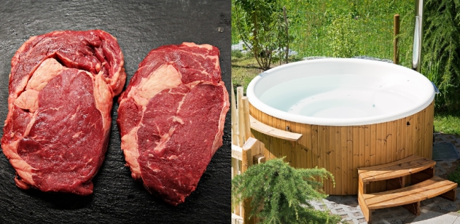 RCMP investigating theft of $230,000 beef from an Alberta meat-packing plant, and a stolen tractor-trailer with 7 hot tubs in Canada.
