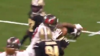 Mike Evans Punches Marshon Lattimore's Helmet Off His Head After The Two Get Into Another Fight On The Field During Bucs-Saints Game