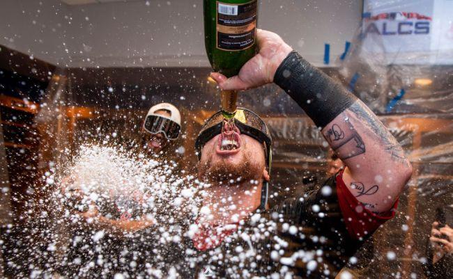 mlb banning champagne alcohol postseason celebrations
