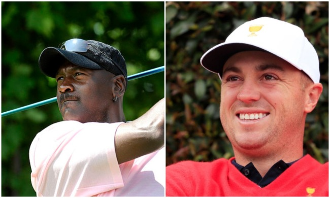 justin thomas michael jordan cheater on golf course