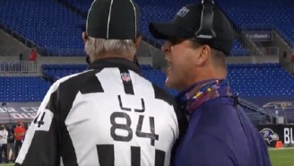 Ravens HC John Harbaugh Likely To Get Fined $100k After Taking Off His Mask To Yell In Ref's Face On 'MNF'