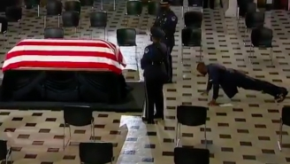 Ruth Bader Ginsburg's Personal Trainer Did A Few Push-Ups In Front Of Her Casket While Paying His Respects