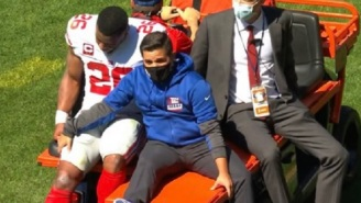 Saquon Barkley Carted To Locker Room With Apparent Knee Injury