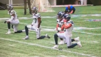 Seahawks And Falcons Players Took A Knee On The Field During Opening Kickoff