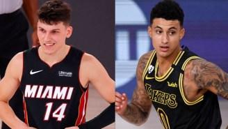 The NBA Finals Could Get Awkward Between Kyle Kuzma And Tyler Herro Considering Herro Is Dating Kuzma's Ex-GF Katya Elise Henry