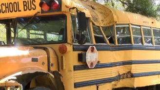 11-Year-Old Boy Crashes Stolen School Bus, Flips The Bird At Cops During 13-Mile, 12-Car Police Chase