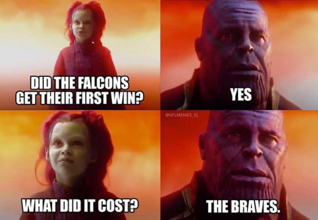50 best memes Falcons and Braves