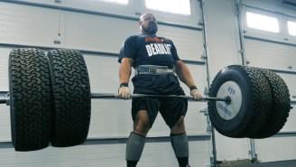 Strongman Brian Shaw Created An Insane $10K Deadlift Setup That Involves Hummer Tires