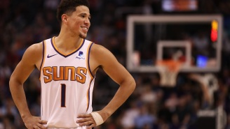 NBA Fans React To Suns' Devin Booker Making Appearance At Kim Kardashian's Private Island Birthday Party