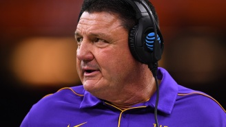 LSU Coach Ed Orgeron Gets Mocked After Getting Embarrassed By Auburn On The Same Week He Showed Off His New Girlfriend