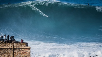 A Hurricane Hitting Europe Is Producing Some Of The Biggest Waves Ever Surfed In History