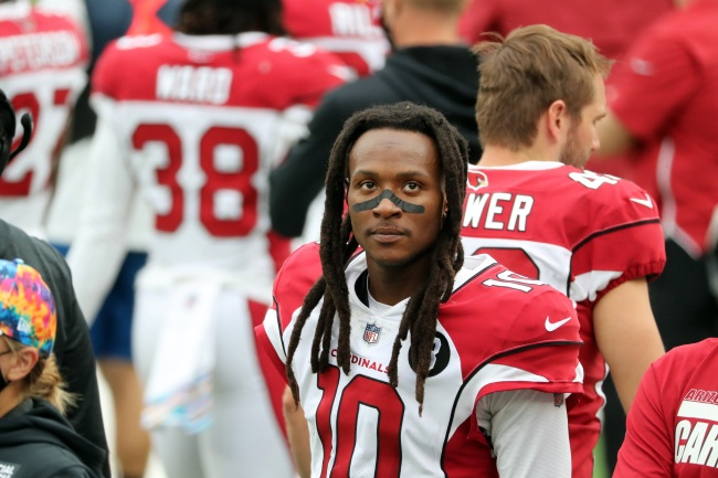 DeAndre Hopkins Photographed Flipping Off Trump Supporters At Parade Before Game
