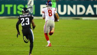 Daniel Jones Explains How He Tripped Himself Up On His 80-Yard Run vs. Eagles