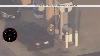 Guy Pulls Ultimate Flex By Stopping At A Gas Station, Filling Up His Tank In Middle Of Police Chase